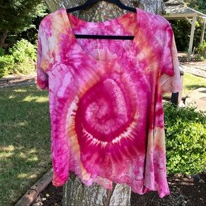 Free People Melrose Tee T Shirt CUSTOM Tie Dye